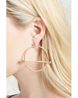Bar Accent Hoop Earrings
