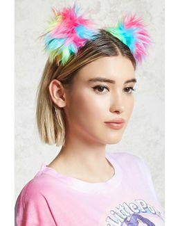 Fuzzy Pom Pom Headband