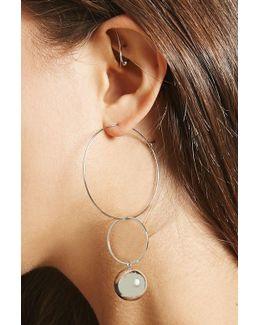 Wire Hoop Bauble Earrings