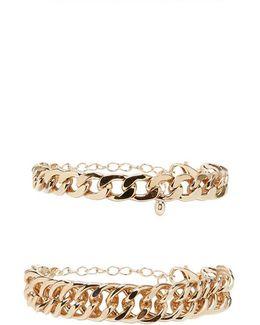 Curb Chain Bracelet Set