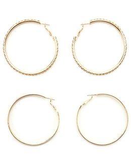 Rhinestone Hoop Earring Set