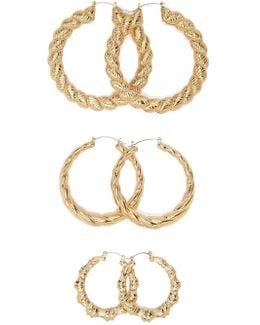 Bamboo-inspired Hoops Set
