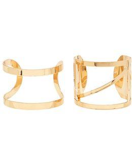 Geo Cutout Cuff Bracelet Set