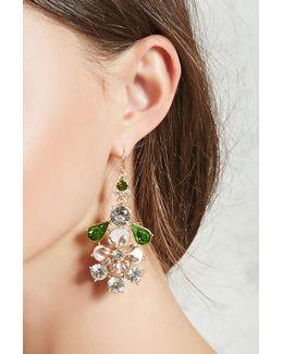 Faux Crystal Statement Earrings