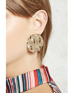 Oversized Hammered Coin Studs