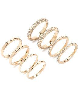 Faux Crystal Ring Set
