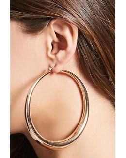 Crescent Drop Hoop Earrings
