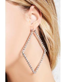 Rhinestone Square Hoop Earrings