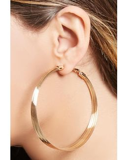 Layered Drop Hoop Earrings