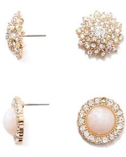 Faux Crystal Statement Studs