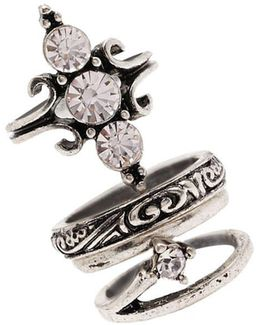 Etched & Midi Ring Set