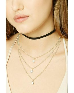 Layered Choker Necklace Set