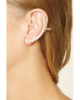 Faux Pearl Ear Cuffs