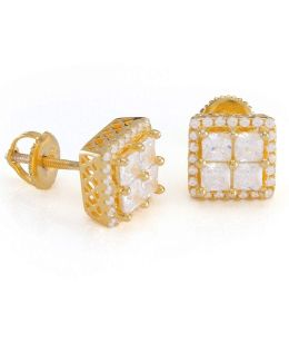 King Ice Gold Cz Studs