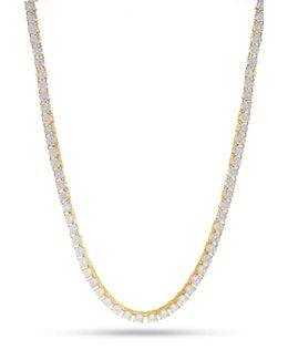 King Ice Gold Cz Necklace