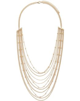 Beaded Chain Layered Necklace