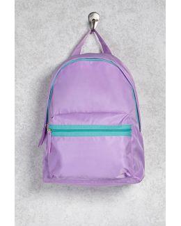 Contrast Nylon Backpack