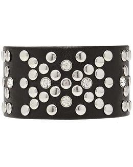 Studded Faux Leather Bracelet