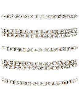 Rhinestone Stretch Bracelet Set