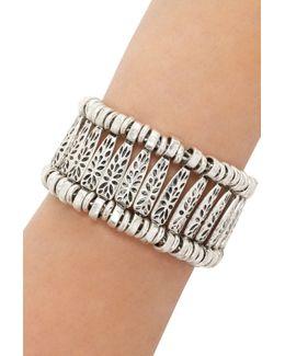 Etched Floral Bracelet