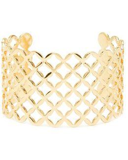 Lattice Cutout Cuff Bracelet