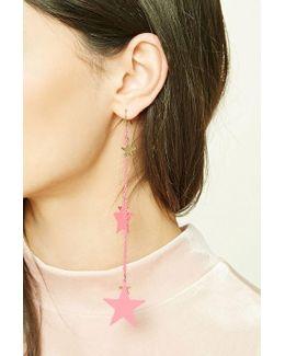 Star Drop Chain Earrings