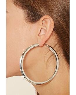 Flat Oversized Hoop Earrings