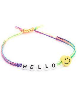 Beaded Hello Bracelet