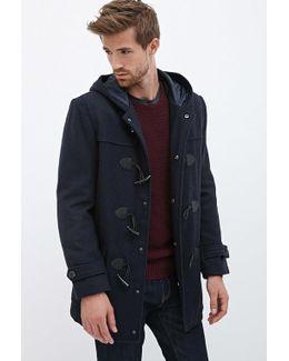 Hooded Wool-blend Duffel Coat
