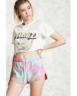 Crystal Dye French Terry Shorts
