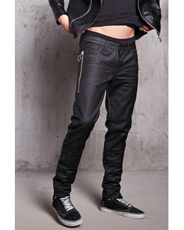 Waxed Slim-fit Jeans
