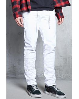 Pull Ring Crinkled Jeans