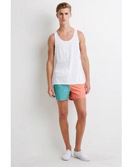 Colorblocked Swim Trunks