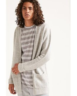 Patch-pocket Knit Cardigan