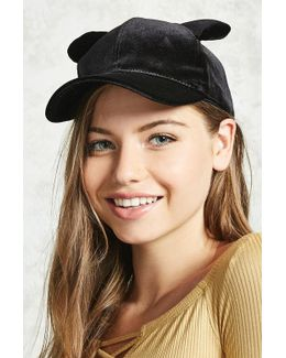 Velvet Cat Ear Baseball Cap