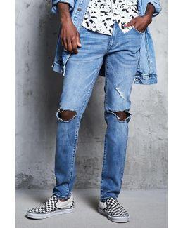 Frayed Slim Jeans