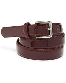 Faux Patent Leather Waist Belt