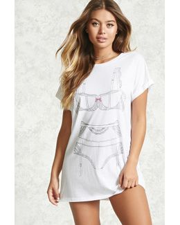 Lingerie Graphic Nightdress
