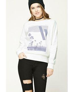 Palm Tree Graphic Sweatshirt