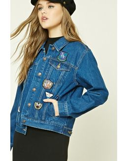 Patch Graphic Denim Jacket