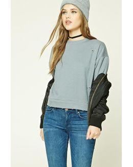 Distressed Boxy Sweatshirt
