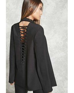 Deep V-neck Strappy Blazer