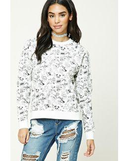 Panda Print Sweatshirt