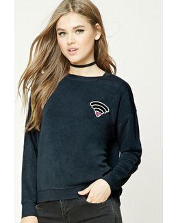 Wi-fi Heart Patch Sweatshirt