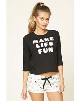 Make Life Fun Graphic Pyjama Set