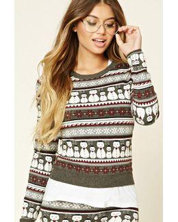 Fair Isle Snowman Sweater