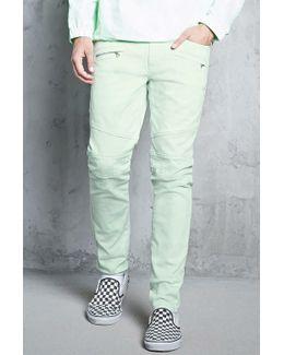 Ribbed Knee Skinny Jeans