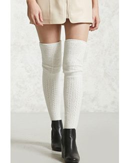 Fuzzy Knit Over-the-knee Socks