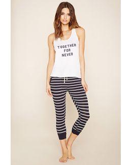 Together Never Stripe Pyjama Set