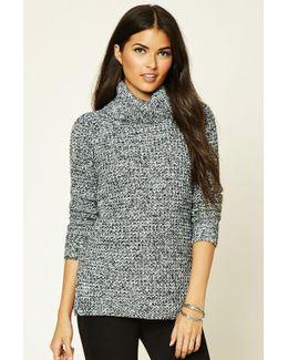 Marled Knit Turtleneck Sweater